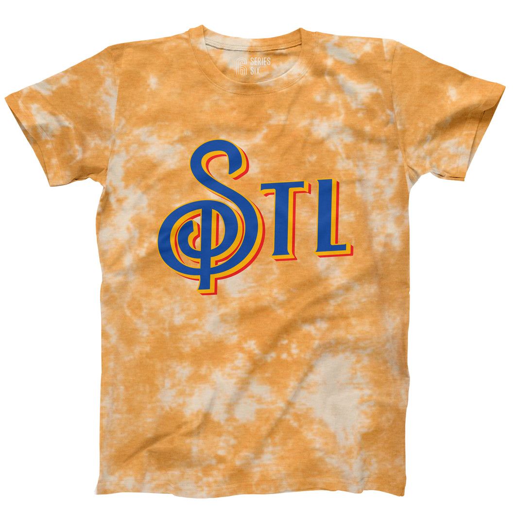 STL Note Unisex Short Sleeve T-Shirt - Gold Tie Dye