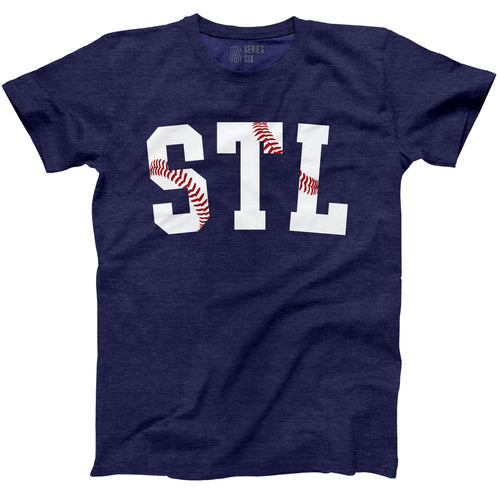 STL Stitches Unisex Short Sleeve T-Shirt - Navy