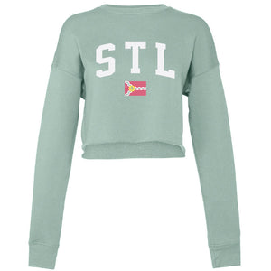 STL Flag Cropped Sweatshirt