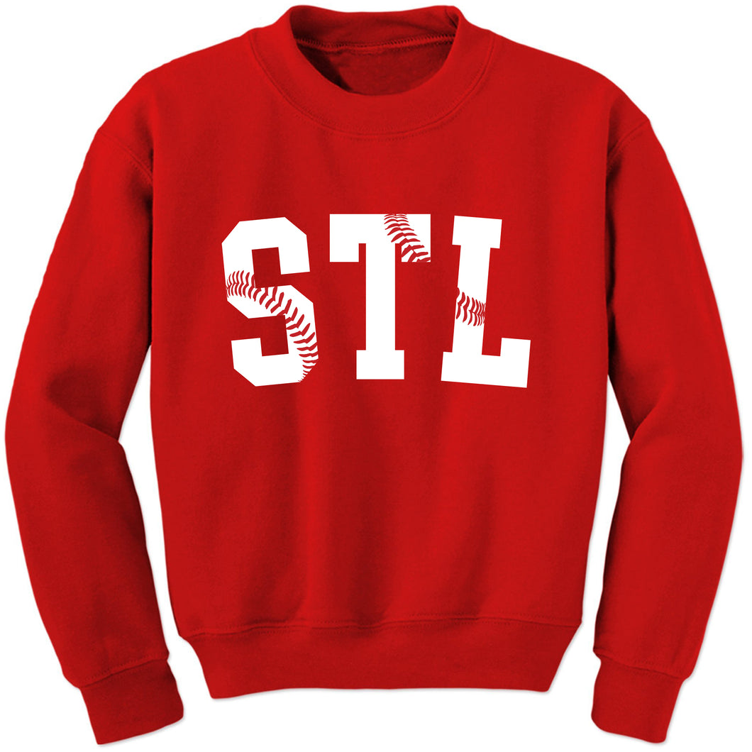 STL Stitches Unisex Crewneck Sweatshirt - Red