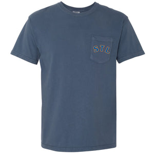 STL Throwback Unisex Pocket Tee
