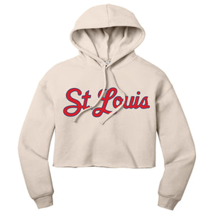 St. Louis Script Hooded Cropped Sweatshirt