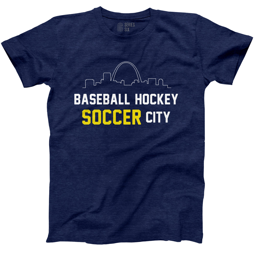 Baseball Hockey Soccer City Short Sleeve Unisex T-Shirt