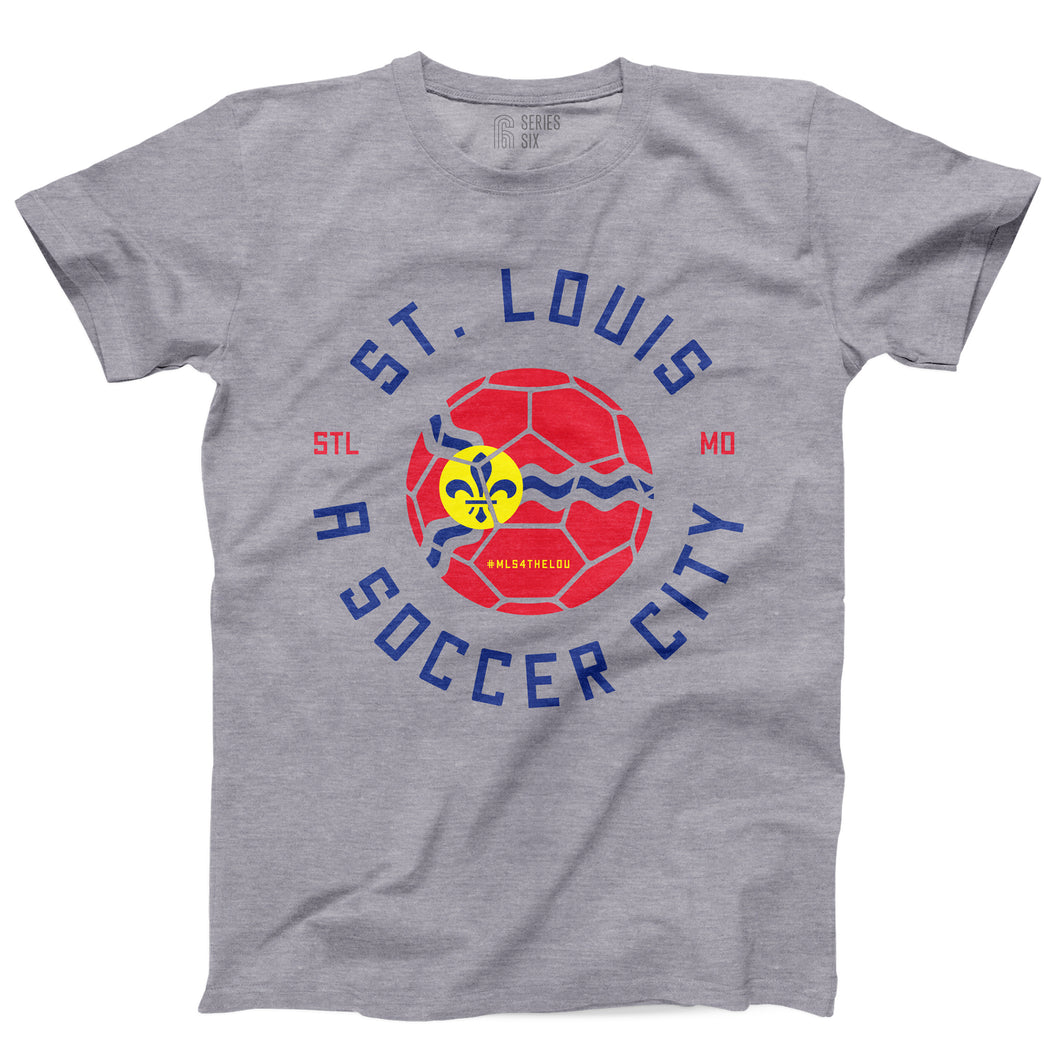 St. Louis A Soccer City Short Sleeve Unisex T-Shirt