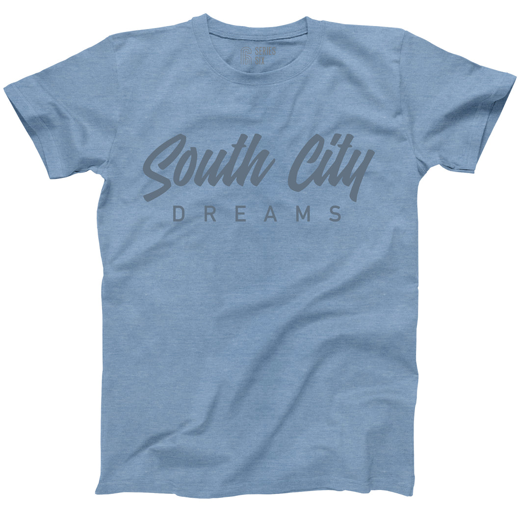 South City Dreams Short Sleeve T-Shirt - Blue Jean