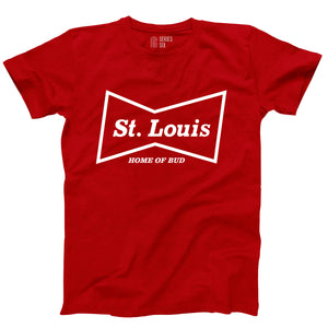 Budweiser Bowtie St. Louis Unisex Short Sleeve T-Shirt - Red