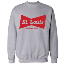 Load image into Gallery viewer, Budweiser Bowtie St. Louis Unisex Crewneck Sweatshirt