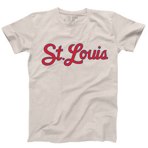 St. Louis Script Unisex Short Sleeve T-Shirt - Tan