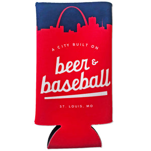 Baseball Tallboy 24oz Can Hugger