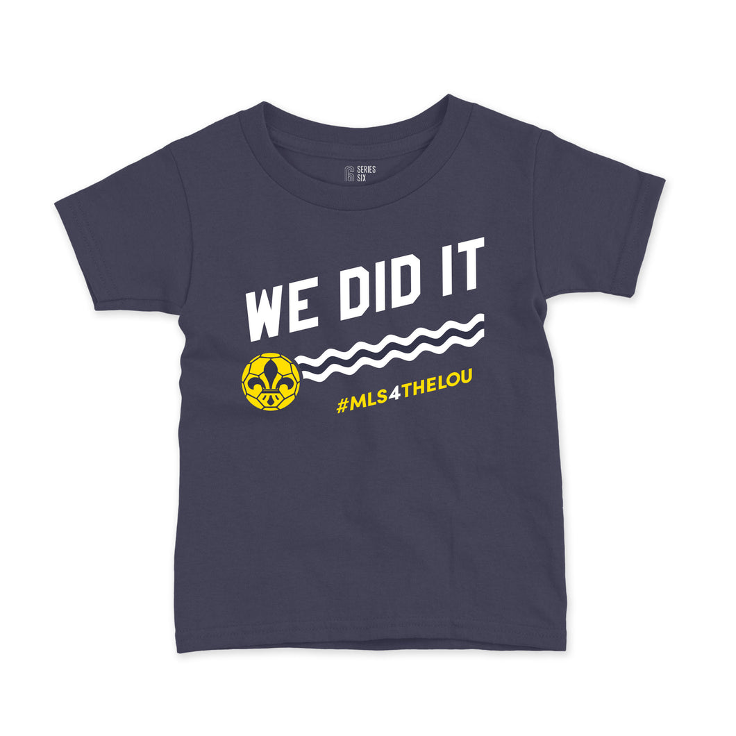 We Did It #MLS4THELOU Youth T-Shirt - Navy
