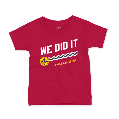 We Did It #MLS4THELOU Youth T-Shirt - Red