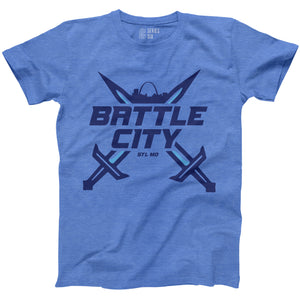 Battle City Short Sleeve Unisex T-Shirt - Blue