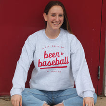 Load image into Gallery viewer, Beer & Baseball Crewneck Unisex Sweatshirt
