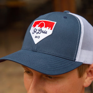 Home Plate Patch Snapback Trucker Hat