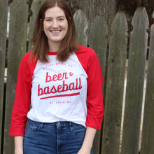 A City Built on Beer and Baseball Unisex Raglan T-Shirt