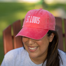 Load image into Gallery viewer, St. Louis Soft Style Hat - Red