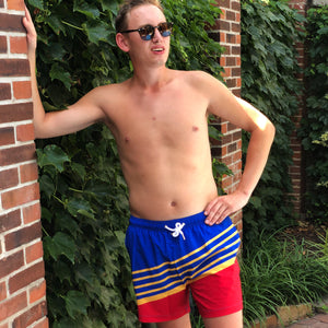 Retro Men's Swim Trunks