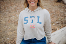STL Flag Hooded Cropped Sweatshirt