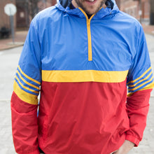 Retro Unisex Anorak Windbreaker - Royal
