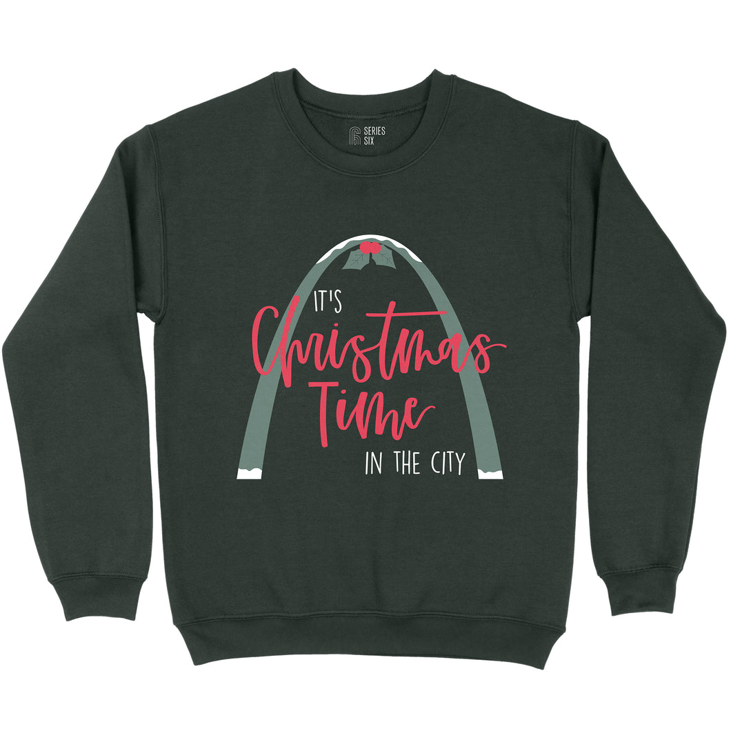 Christmas Time In The City Crewneck Unisex Sweatshirt