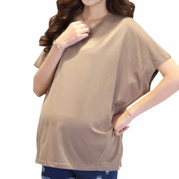 Summer Loose Bat Sleeve Clothes For Pregnant Women