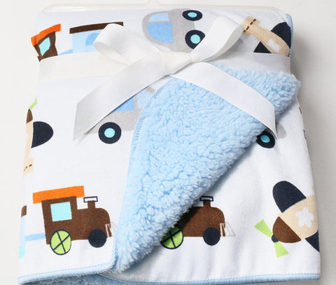 High Quality Cute Plush Newborn Baby Blanket