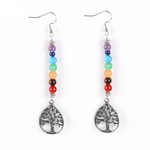 Tree of Life Long Drop Earrings