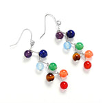 Long Drop Colorful Dangle Earrings