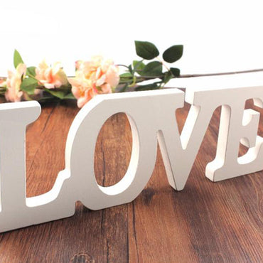 Love Letters White  Wood Vintage
