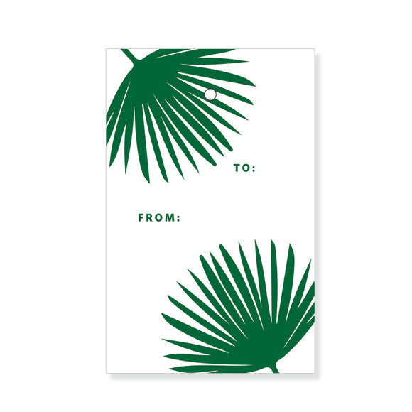 Green Palm Gift Tags