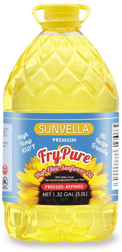 SUNVELLA FryPure Pressed-Refined High Oleic Sunflower Oil 1.32 GAL (5.0L)