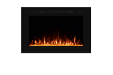 Electric LED Fireplace Insert : 40 inch, Wall Mount Electric Fire Place, Touchstone, contemporary LED - Contemporary LED
