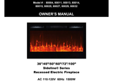 "DIY  Electric Fireplace Insert : 60"", Wall Mount Electric Fire Place, Touchstone, contemporary LED - Contemporary LED"