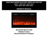 "Sideline 72"" Recessed Electric Fireplace, Wall Mount Electric Fire Place, Touchstone, contemporary LED - Contemporary LED"