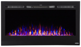 "LED Electric Fireplace 36"", Wall Mount Electric Fire Place, Touchstone, contemporary LED - Contemporary LED"