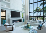 "ValueLine  Electric Fireplace Recessed: 60"", Wall Mount Electric Fire Place, Touchstone, contemporary LED - Contemporary LED"