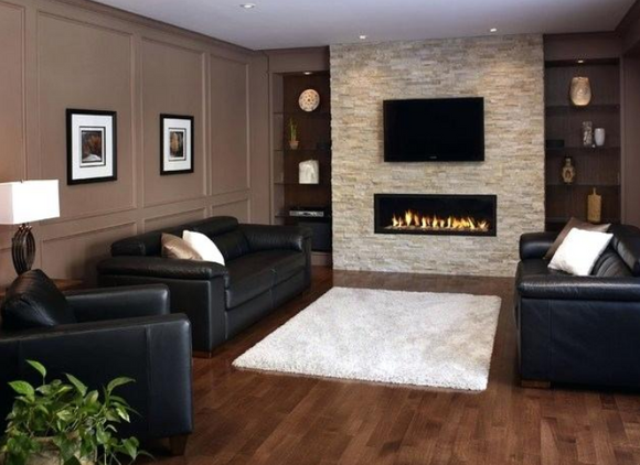 Electric Fireplace recessed :50