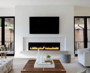 "72"" Recessed Electric LED Fireplace, Wall Mount Electric Fire Place, Touchstone, contemporary LED - Contemporary LED"