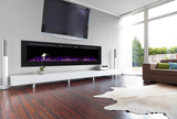 "100"" Recessed Electric Fireplace, Wall Mount Electric Fire Place, Touchstone, contemporary LED - Contemporary LED"