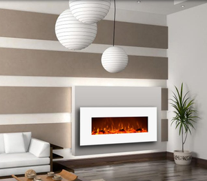 Wall Mounted Fireplace, Wall Mount Electric Fire Place, Touchstone, contemporary LED - Contemporary LED