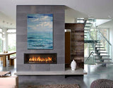 "ValueLine 60"" Recessed Electric Fireplace, Wall Mount Electric Fire Place, Touchstone, contemporary LED - Contemporary LED"