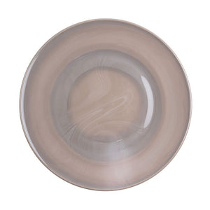 "Mosser Glass 10"" Plate Marble Grey"