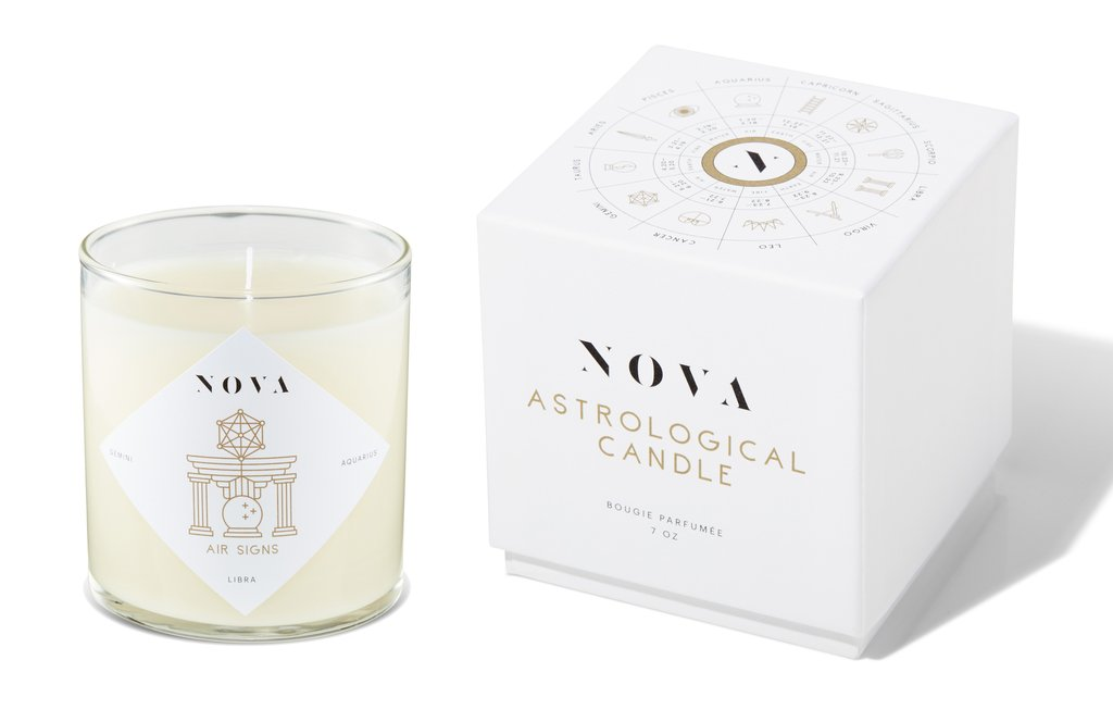 Nova Astrological Candle Air Signs