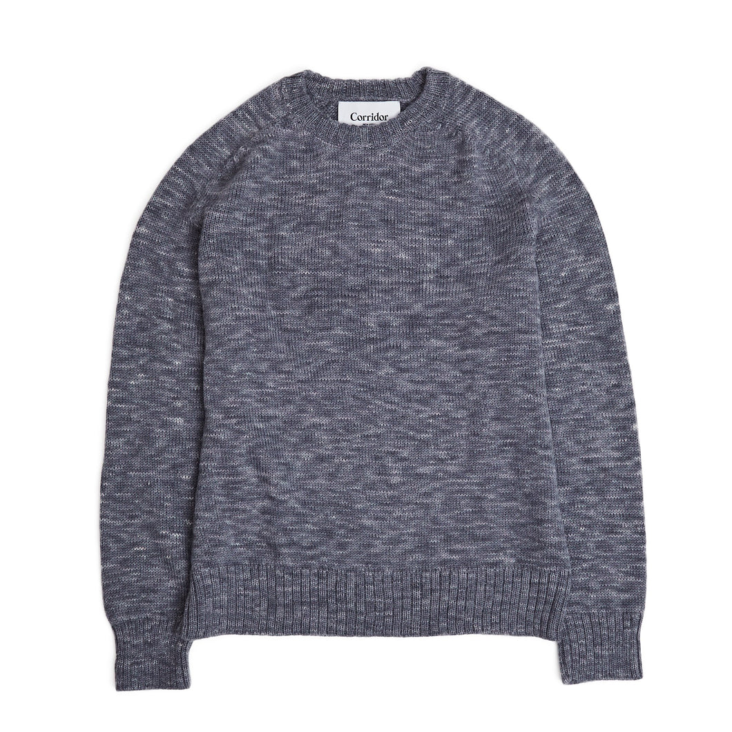 Corridor NYC Alpaca Space Dye Crew Neck Grey