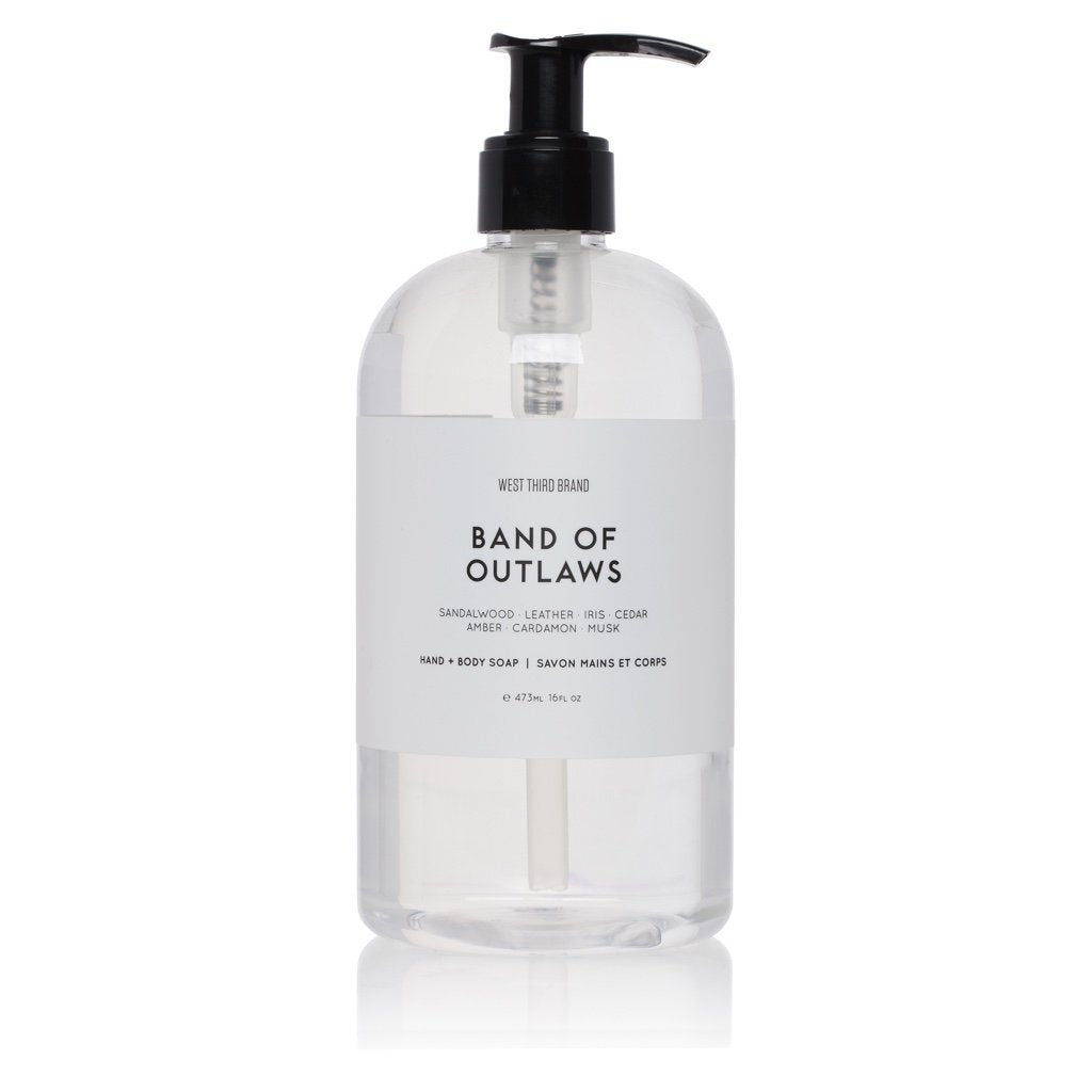West Third Brand Band of Outlaws Hand + Body Soap