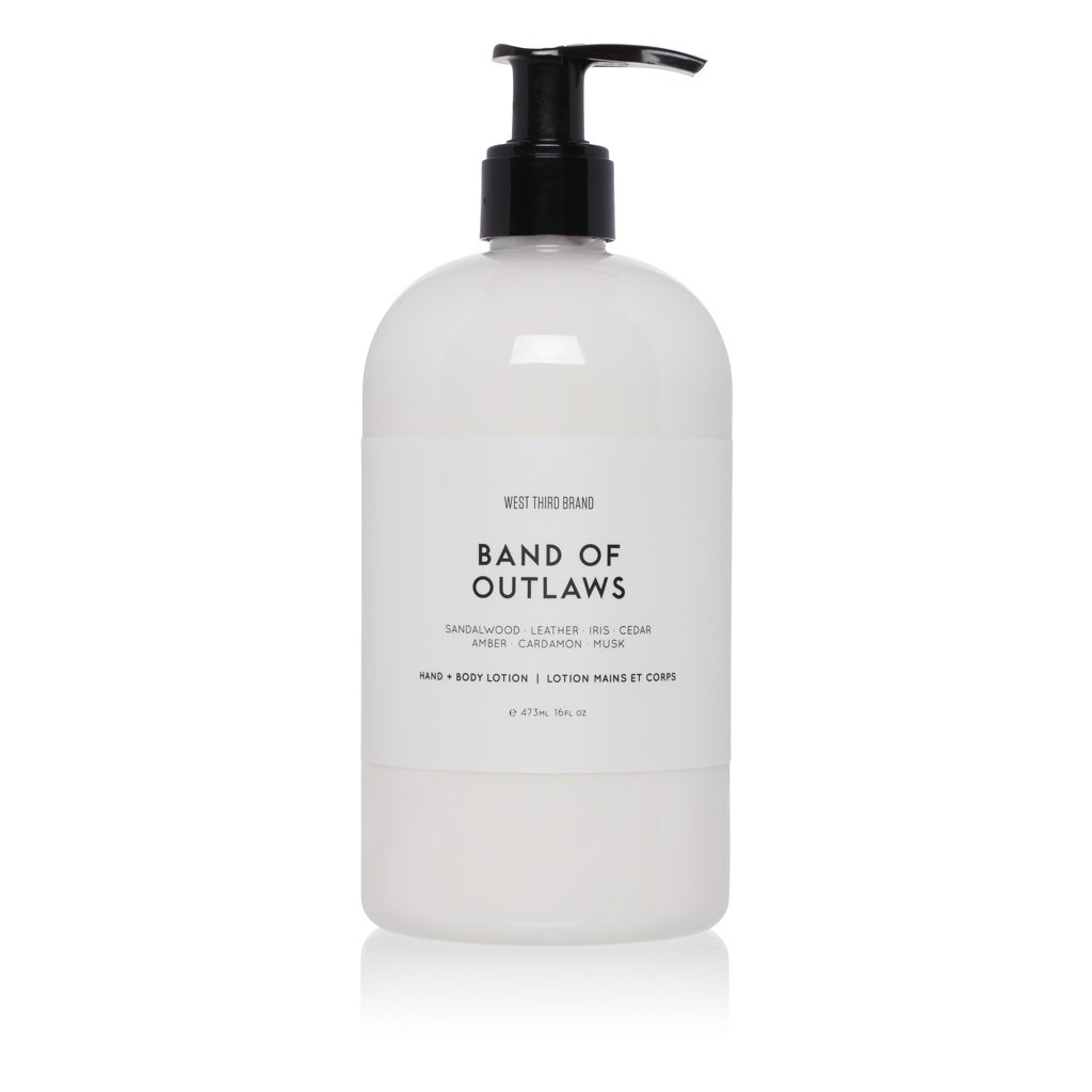 West Third Brand Band of Outlaws Hand + Body Lotion