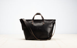 Joshu + Vela Leather Boat Tote with Zipper Large