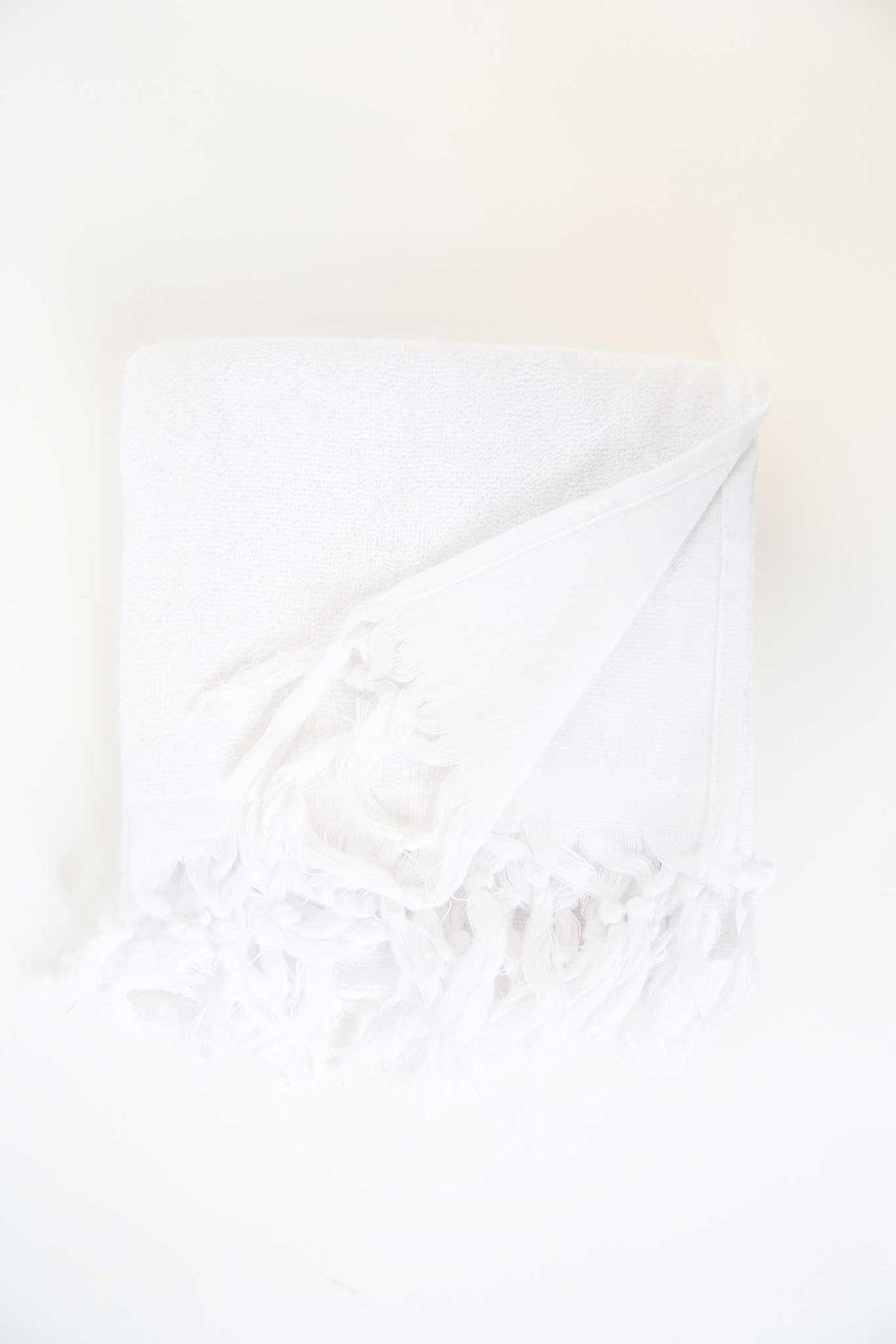 Turkish Guest Towel in White