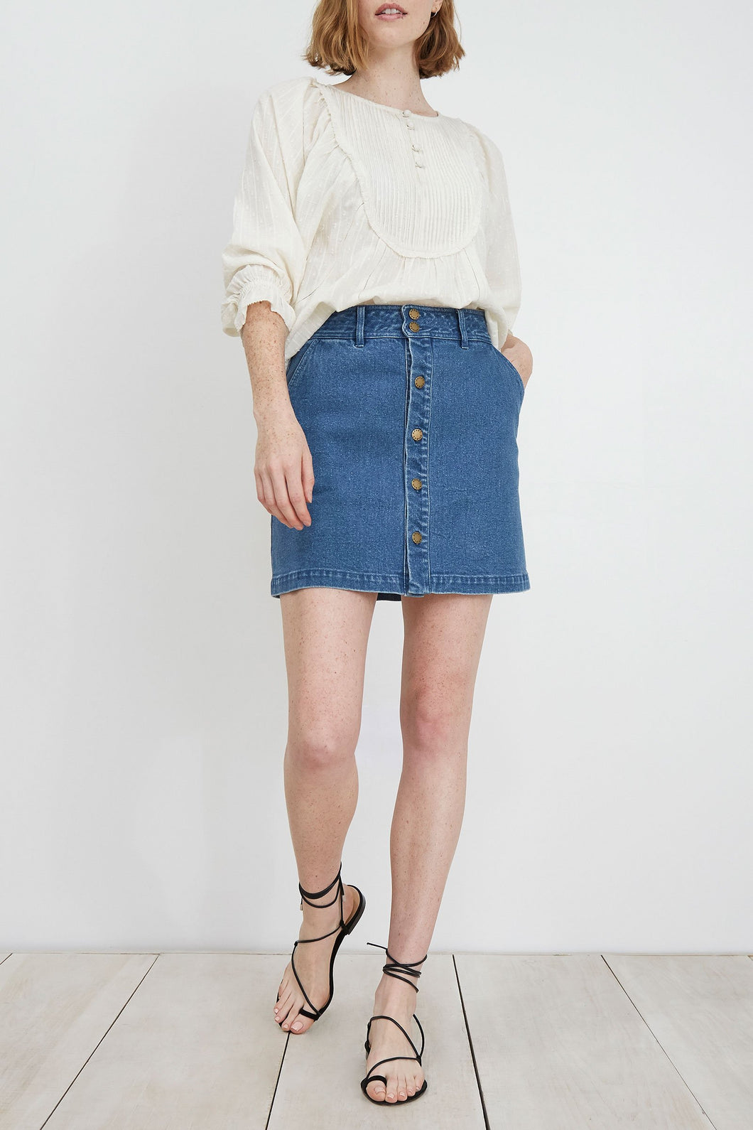 Apiece Apart Chloe Denim Skirt