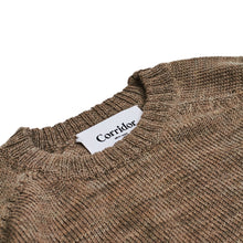Corridor NYC Alpaca Space Dye Crew Neck Brown
